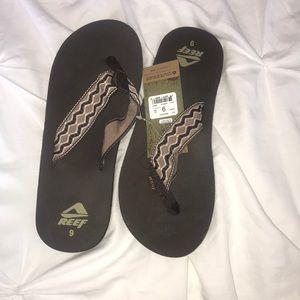 Brown Reed Flip Flops